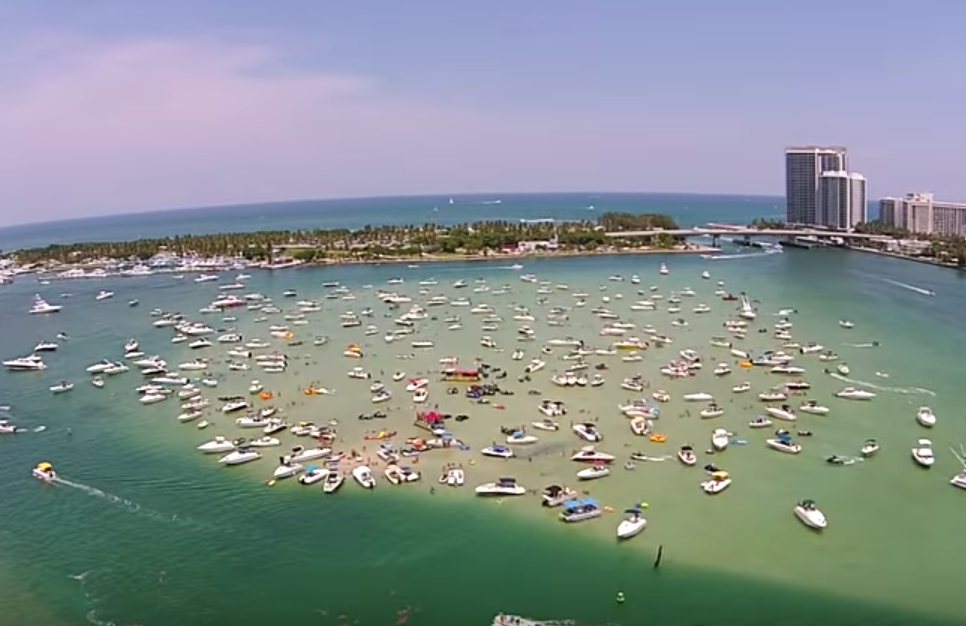 Haulover Sandbar in Miami