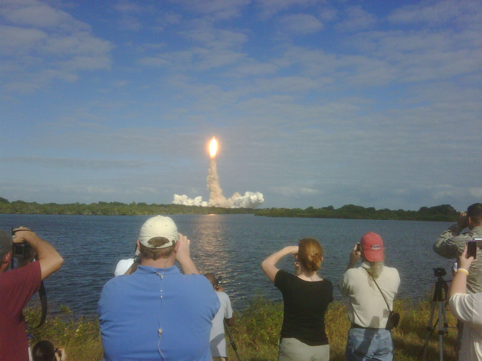 Rocket launch at Kennedy Space Center, Florida