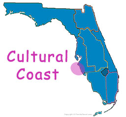 Florida's Cultural Coast map