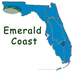 Florida's Emerald Coast map