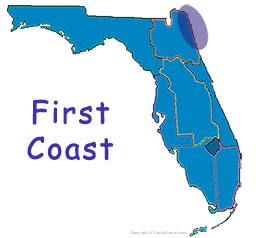 Florida's First Coast map