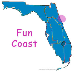 Florida's Fun Coast map