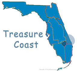 Florida's Treasure Coast map