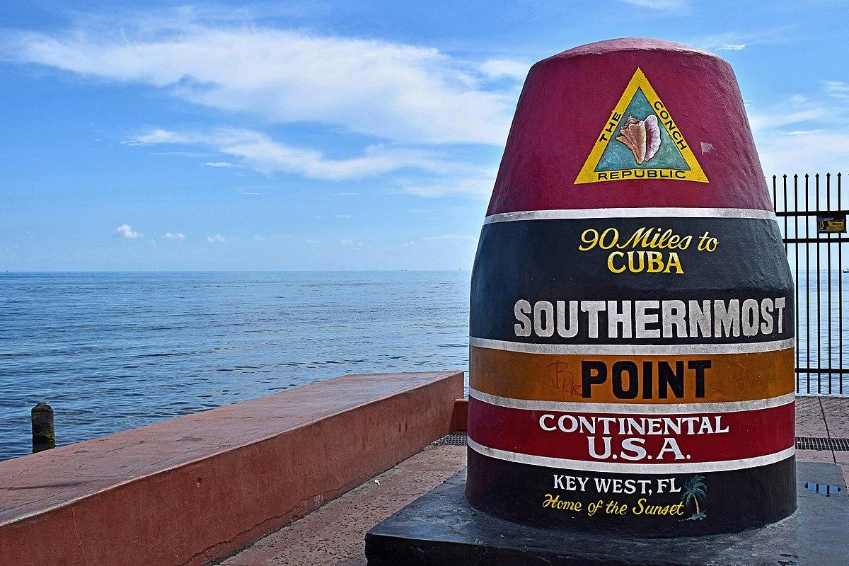 Key West Southernmost point marker