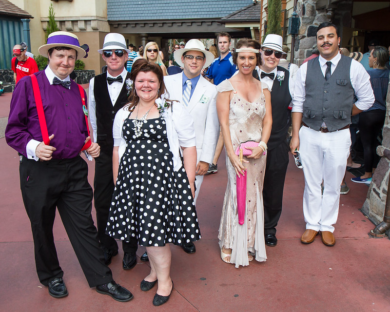 Group of Dapper Day goers