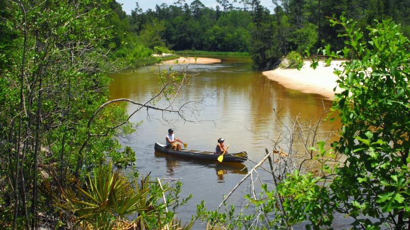 Canoeing at Blackwater River State Park