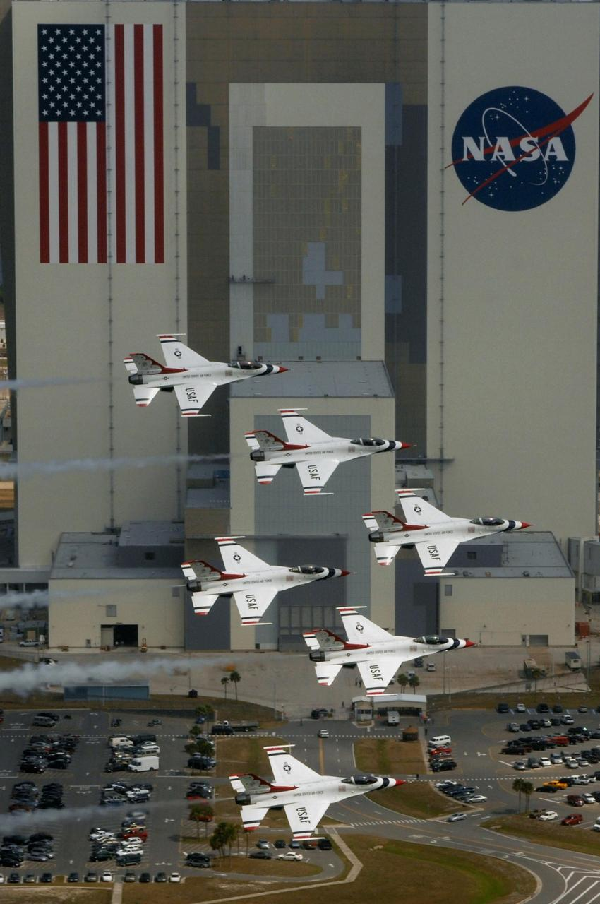US Air Force Thunderbirds Kennedy Space Center