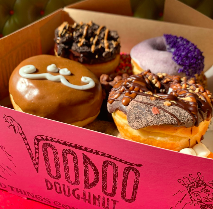 A photo of a box of Voodoo Donuts from Voodoo Donuts' Facebook