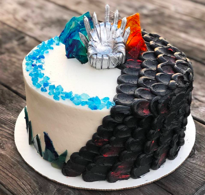 A Game Of Thrones Inspired Cake made by Valhalla Bakery