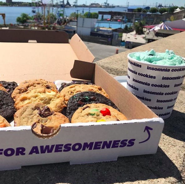 Cookies and ice cream for Insomnia Cookies
