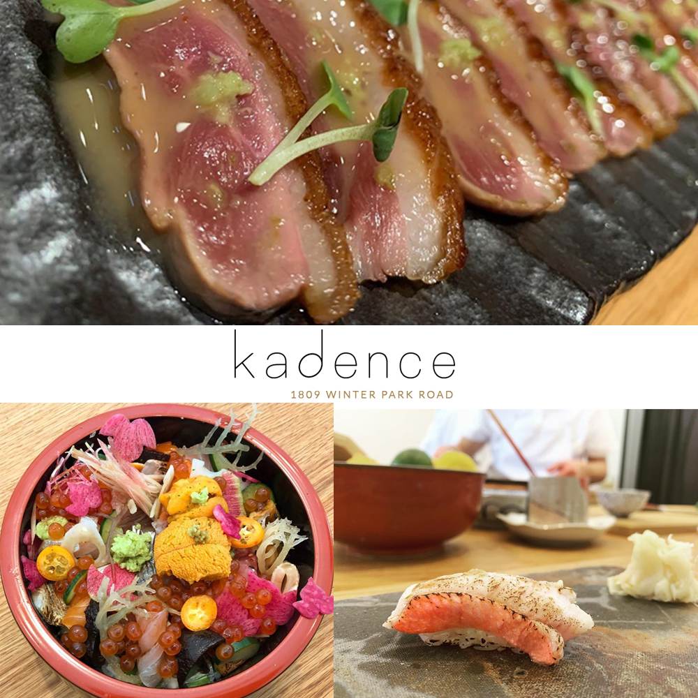 Various dishes from Kadence