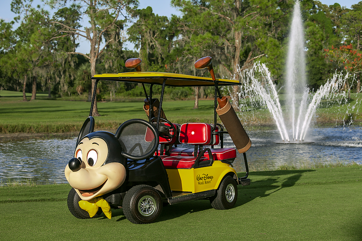 Walt disney world golf Mickey cart