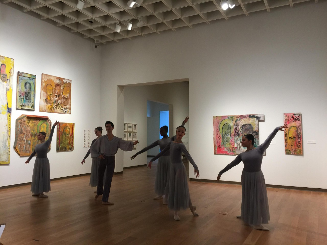 Ballet amidst Purvis Young Art