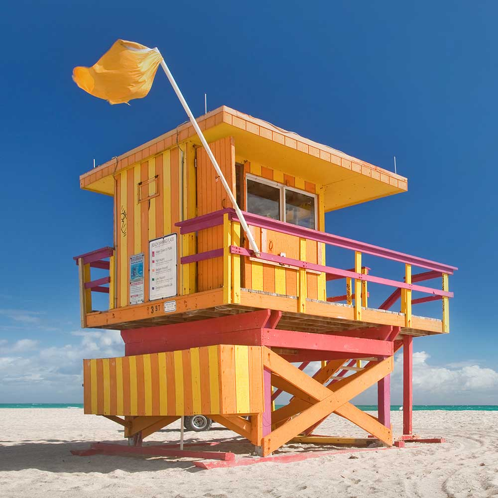 South Miami Beach Lifeguard Stands