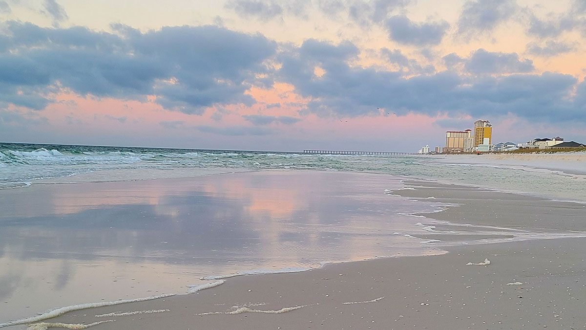 Coastline in Pensacola Beach