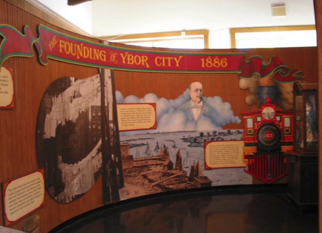 The Founding of Ybor City display in the Ybor City Museum