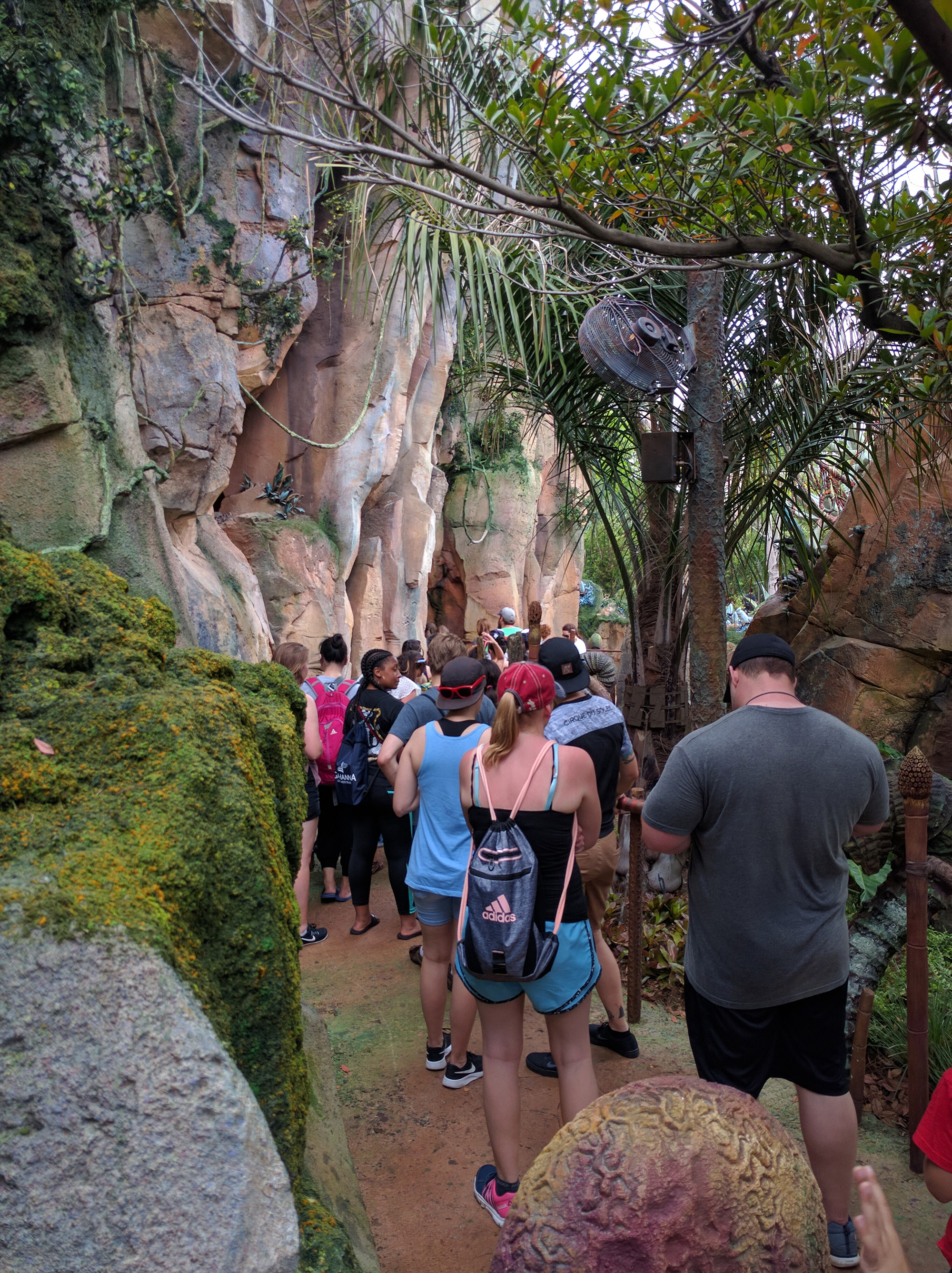 Pandora Flight of Avatar wait line