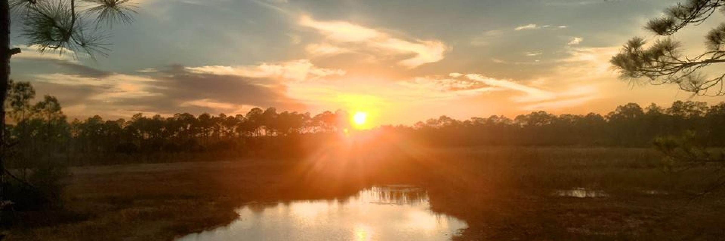 Sunset over a Charlotte County Park