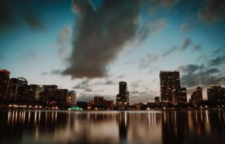 lake eola at sunset. Photo by Cody Board