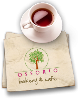 Ossorio logo with coffee cup