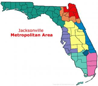 Jacksonville, Florida Metro Area Map
