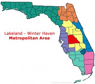 Lakeland - Winter Haven, Florida Metro Area Map