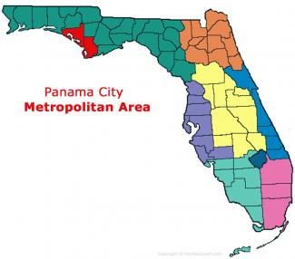 Panama City, Florida Metro Area Map