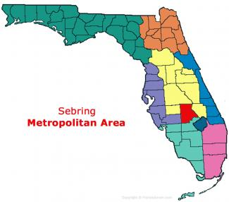 Sebring, Florida Metro Area Map