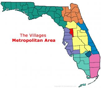 The Villages, Florida Metro Area Map