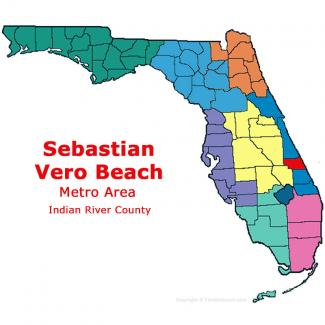 Sebastian - Vero Beach, Florida Metro Area Map