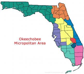Okeechobee Florida Micropolitan Area Map