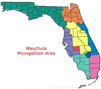 Wauchula Florida Micropolitan Area Map